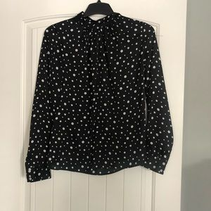 Black Top with Polkadots